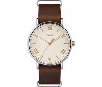 Datum klassisch Quarz Uhr mit Leder Armband TW2R80400