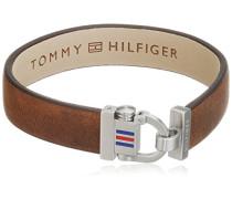 Herren-Armband Edelstahl Leder 22 cm-2700768