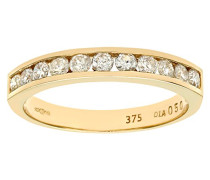 Damen-Ring 9 K Gelbgold Diamant