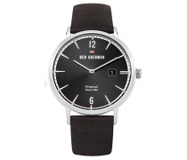 Analog Quarz Uhr mit Leder Armband WBS101BR