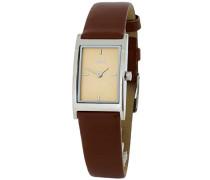 Damen-Armbanduhr Analog Quarz Leder M11603-542