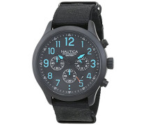 Chronograph Quarz Uhr mit Edelstahl Armband NAI16514G