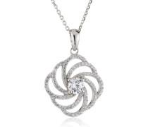 Halskette 925 Sterling Silber Zirkonia 45 cm wei ZH-4800