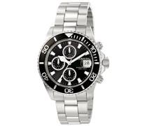 1003 Pro Diver Uhr Edelstahl Quarz schwarzen Zifferblat