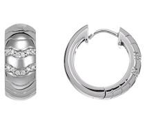 Creolen 925 Sterling Silber rhodiniert Glas Zirkonia Réalisme weiß S.PCCO90215A000