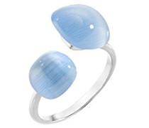 Ringe 925 Sterlingsilber mit Kissenschliff Katzenauge - Ringgröße 58 (18.5) SAKK16018