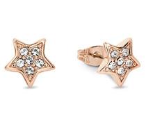 Ohrstecker Sterne rosévergoldet veredelt mit Kristallen von Swarovski