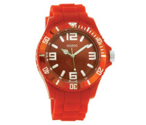 Armbanduhr Silicone Collection Analog Silikon rot C4289