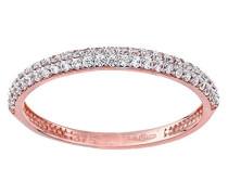 Ring 9 K 375 Roségold rundschliff weiß Oxyde de Zirconium