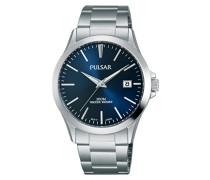 Analog Quarz Uhr mit Edelstahl Armband PS9453X1