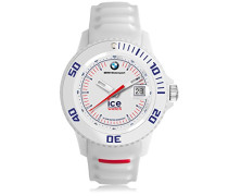 BMW Motorsport (sili) White - Weiße Herrenuhr mit Silikonarmband - 000835 (Medium)