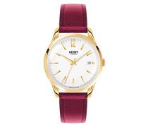 Datum klassisch Quarz Uhr mit Leder Armband HL39-S-0064
