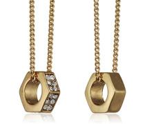 Jewelry Halskette Messing Halskette mit Anhänger aus der Serie Bold vergoldet