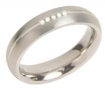 Herren-Ring Titan Diamant weiß