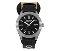 Herren-Armbanduhr Analog Quarz Leder 8502501