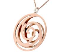 Damen Halskette Silber vergoldet cm ZH-6010