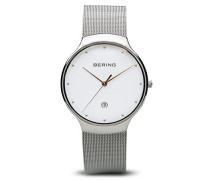 Analog Quarz Uhr mit Edelstahl Armband 13338-001