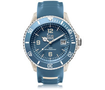ICE sporty Blue Sandshell - Blaue Herrenuhr mit Silikonarmband - 001333 (Extra Large)