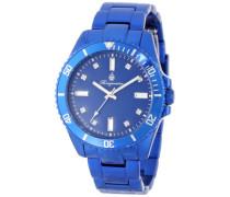 Armbanduhr für mit Analog Anzeige, Quarz-Uhr mit Aluminium Armband - Wasserdichte Damenuhr mit zeitlosem, schickem Design-klassische
