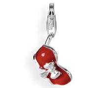Damen-Charm BH rot 925 Sterlingsilber HB 174