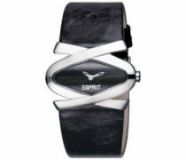 Damen-Armbanduhr Analog Quarz Leder ES100592004