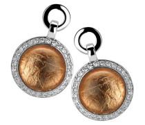 Ohrhänger 925 Sterling Silber rhodiniert Glas Zirkonia weiß ZO-5202/1