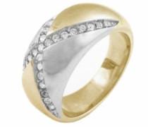 D21065DSZ56-Zeilen Ring Edelstahl Zirkonia weiß