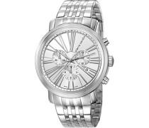 Armbanduhr Couronnes Chronograph Quarz Edelstahl Swiss Made