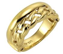 Silber Damen-Ring 925 teilvergoldet
