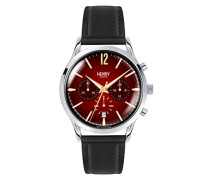 Chronograph Quarz Uhr mit Leder Armband HL41-CS-0099