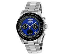 23122 Speedway Uhr Edelstahl Quarz blauen Zifferblat