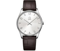 Herren-Armbanduhr Analog Quarz Leder K4D211G6