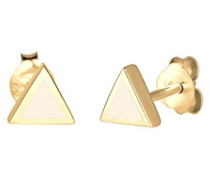 Ohrstecker Dreieck Geo Basic Trend Filigran vergoldet Emaille silber 925 0305971115