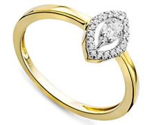 Damen-Ring 375 Gelbgold mit Brillanten