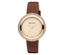 Damen-Armbanduhr Glitz Analog Quarz Leder