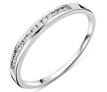 Ring Ewigkeitsring Weißgold 18 Karat / 750 Gold Diamant Brillianten 0.10 ct