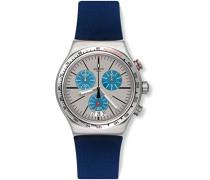 Erwachsene Chronograph Quarz Uhr mit Silikon Armband YVS435