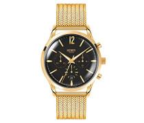 Erwachsene Chronograph Quarz Uhr mit Edelstahl Armband HL41-CM-0180