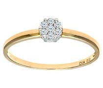 Damen-Ring 9 K Gelbgold P1 Diamant