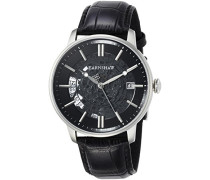 Erwachsene Analog Automatik Smart Watch Armbanduhr mit Leder Armband ES-8075-01