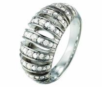 Ring 925 Sterling Silber rhodiniert Kristall Zirkonia Pure weiß