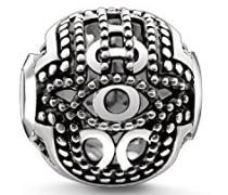 Bead Fatimas Hand Karma Beads 925 Sterling Silber geschwärzt silber K0219-637-12