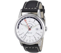 Armbanduhr XL Magellano Analog Automatik Leder 6069GMT-g3