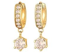 Creolen 925 Sterling Silber Kristall Zirkonia gold 0311540513