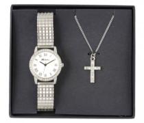 Armbanduhr Analog Quarz Edelstahl beschichtet RJS-002