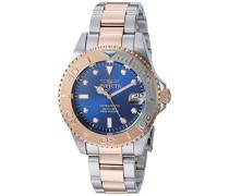24635 Pro Diver Uhr Edelstahl Quarz blauen Zifferblat