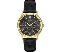 Herren-Armbanduhr Analog Quarz Leder W0496G5
