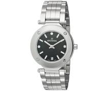 5079.1137 Quarz Schweizer Uhr mit schwarzem Zifferblatt Analog-Anzeige und Silber Edelstahl Armband