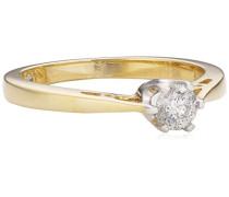 """Diamonds by Ellen K. - Damenring """"Centurion"""" 585/- Gelbgold 2 Brillanten 0.25 Karat Größe 16 317370015-4-016"""