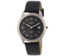 Herren-Armbanduhr XL Analog Quarz Leder 11190096